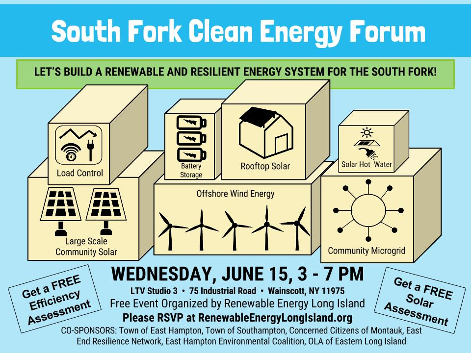South Fork Clean Energy Forum Flyer