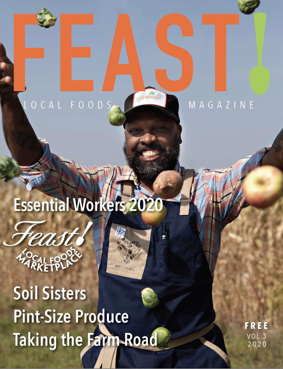 FEAST ! Local Foods Magazine Volume 3 cover