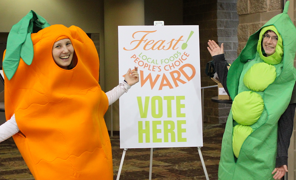 Carrot-Pea-Voting station