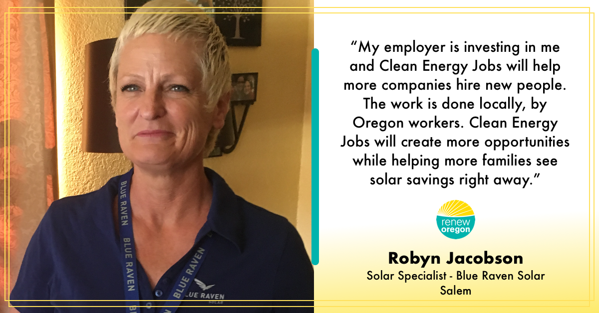 Robyn Jacobson - Solar Worker Renew Oregon