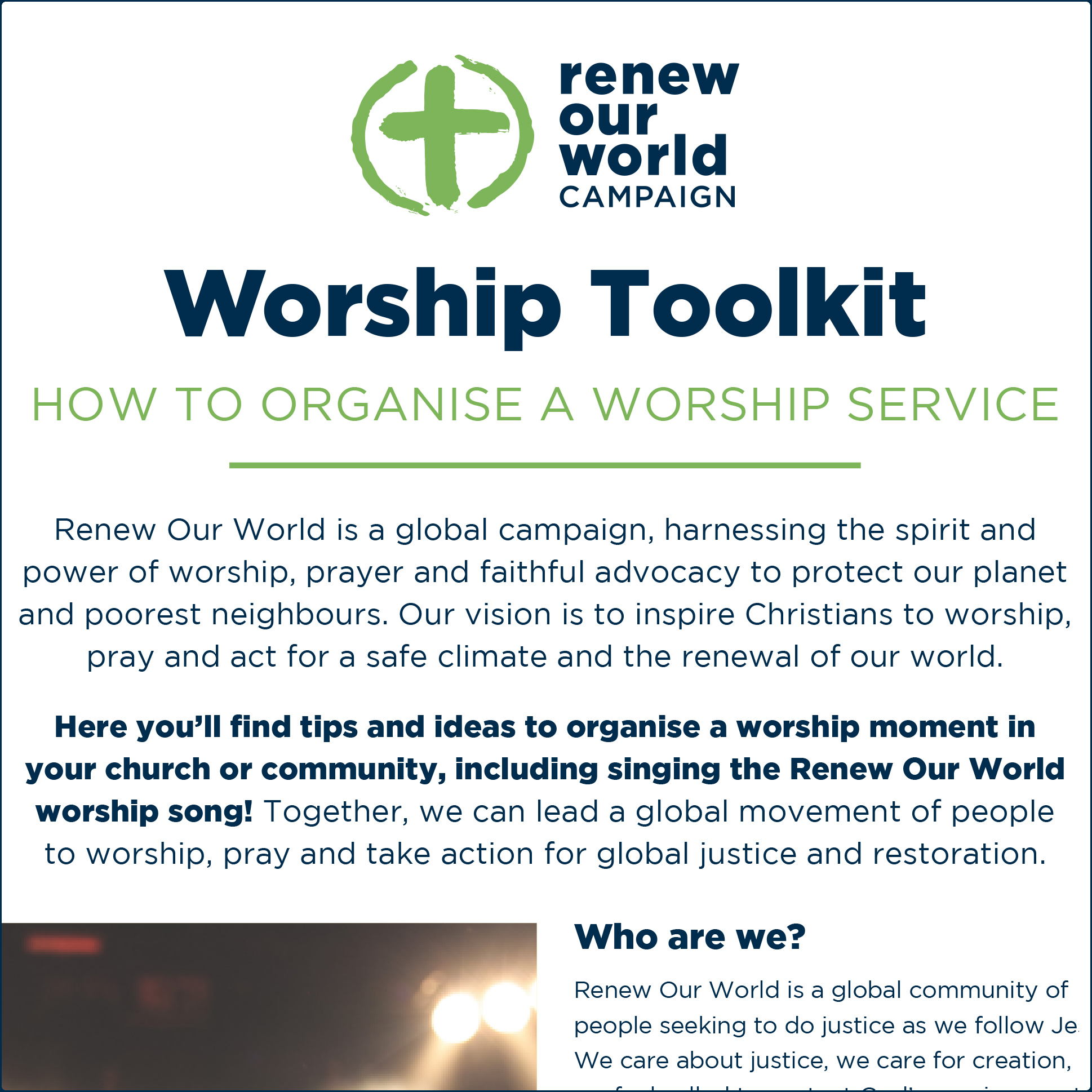 Renew Our World - Toolkit