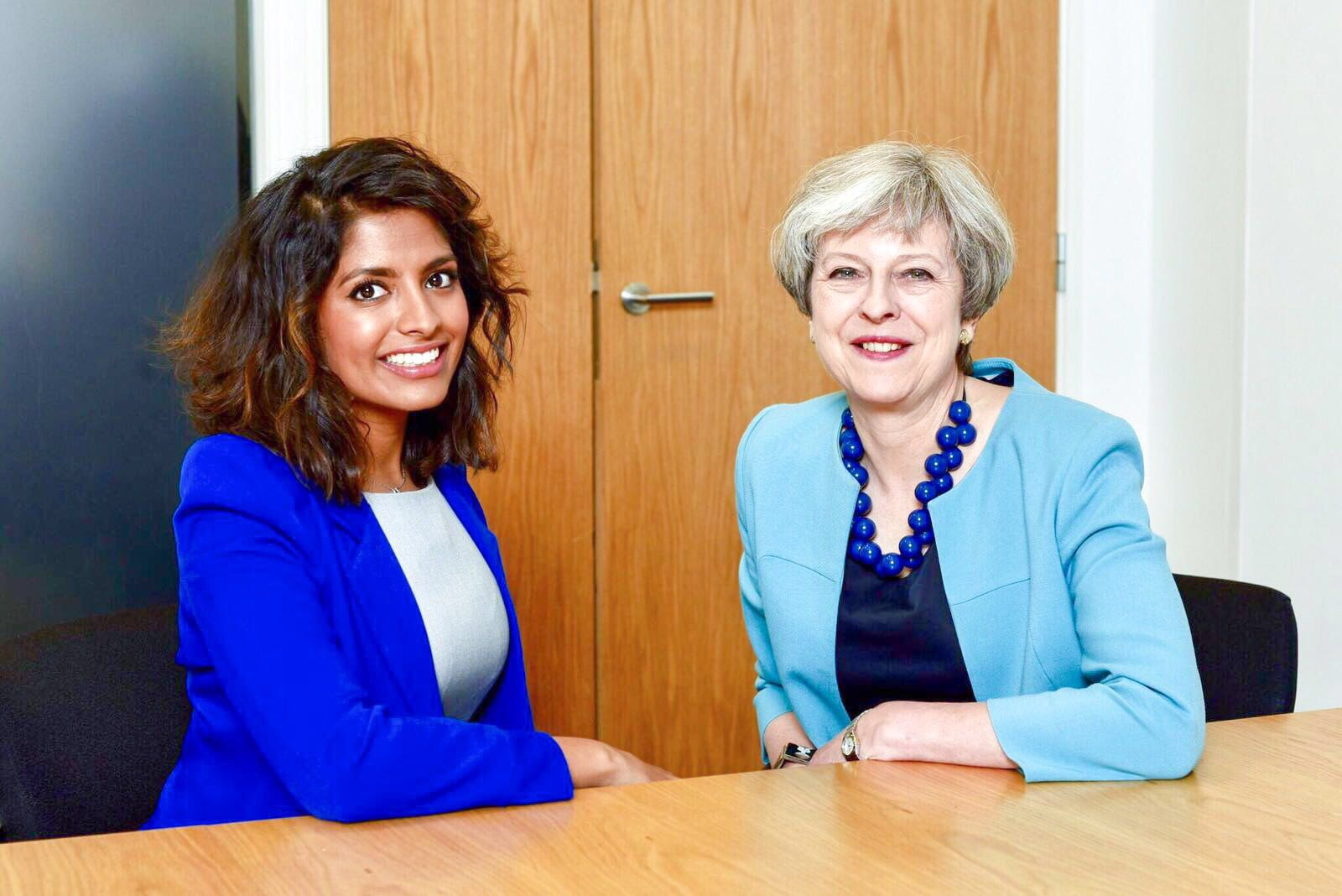 Resham Kotecha and Prime Minister Theresa May