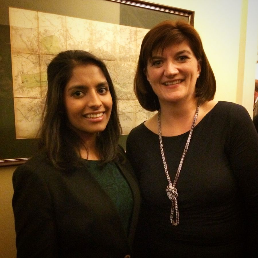 With Nicky Morgan