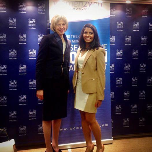 Resham Kotecha and Theresa May