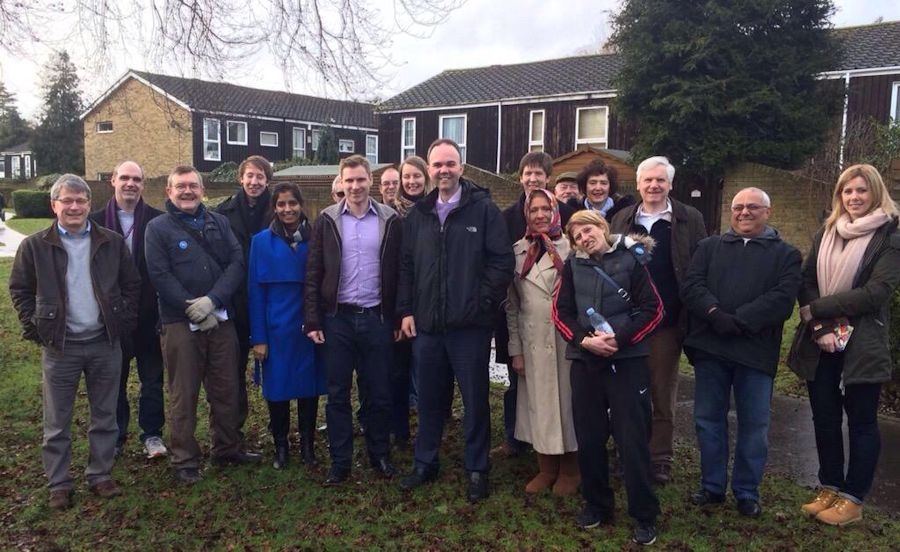 Campaigning with Gavin Barwell