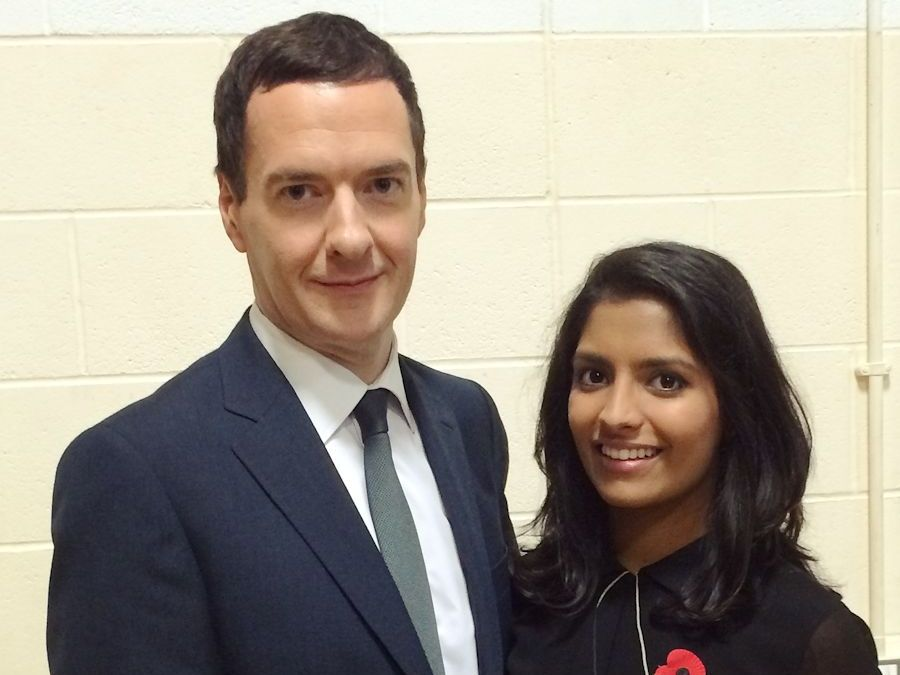 Resham Kotecha with Chancellor George Osborne