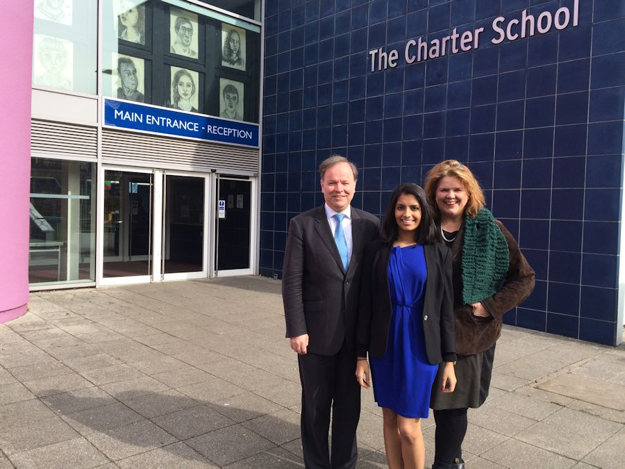 Resham visits the Charter School