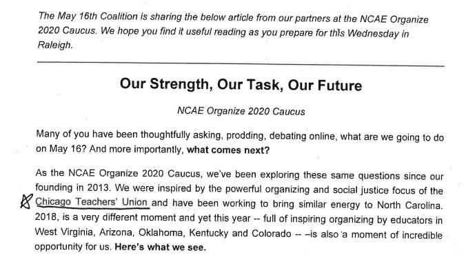 Southern Vision Alliance - Organize 2020 - Leaked email 1