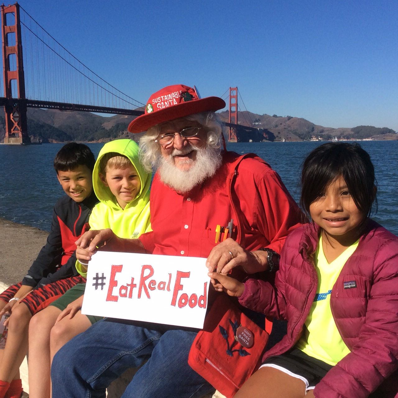 Santa and Real Food Kids