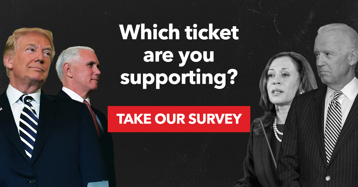 Which ticket are you supporting for President?