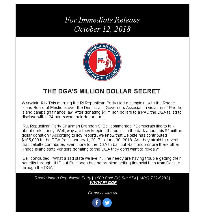 THE DGAS MILLION DOLLAR SECRET - Rhode Island Republican Party