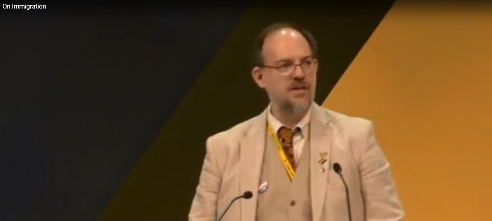 Richard on stage at Lib Dem Conference