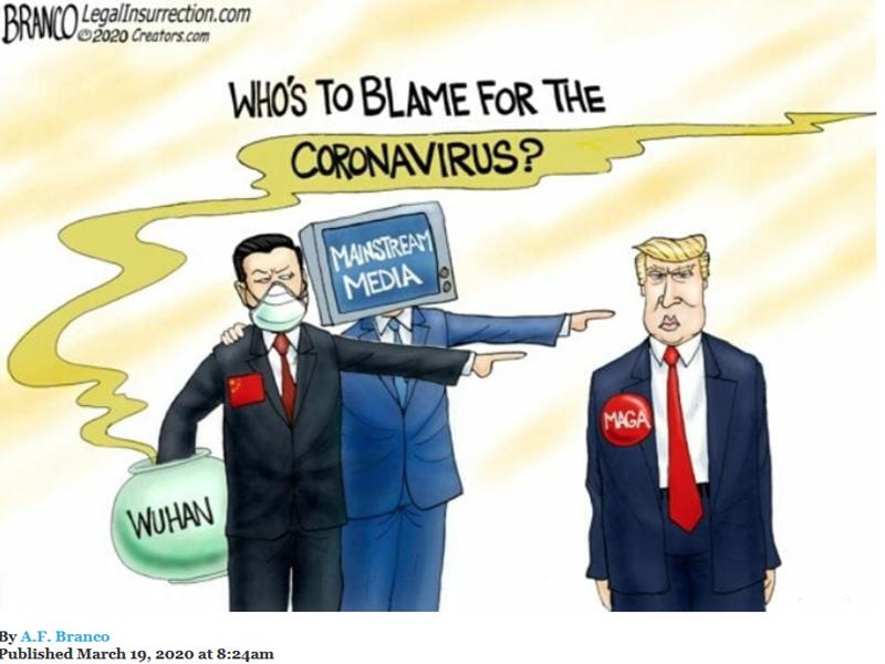 Corona Virus Blame
