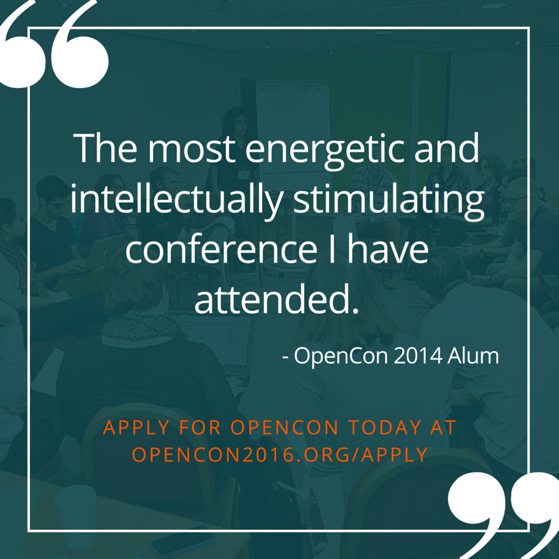 OpenCon 2014 Attendee Quote