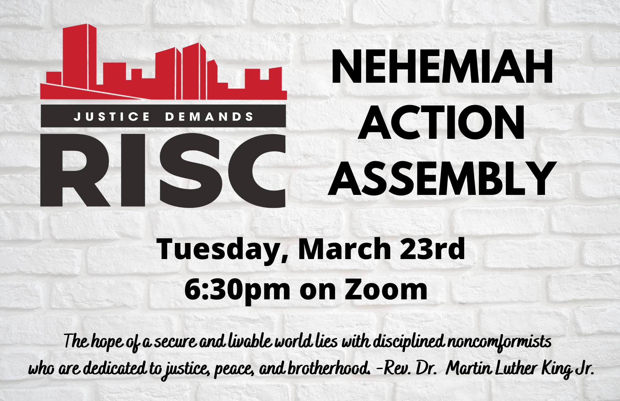 Banner Image for RISC: Nehemiah Action Assembly