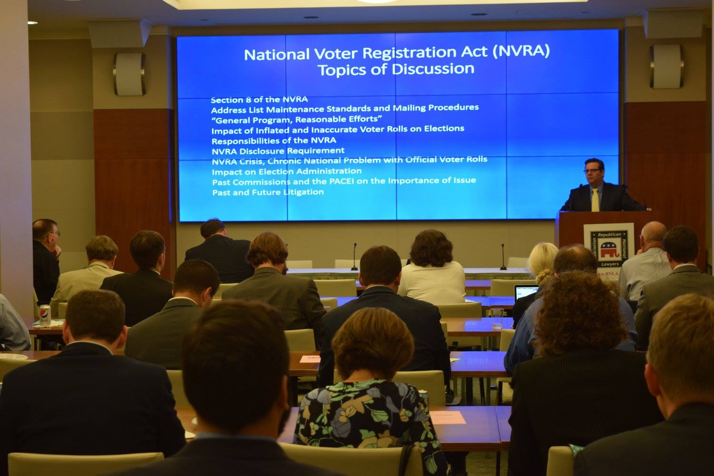 2017 Virginia election law training in Washington, DC.