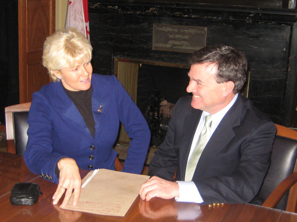 Cheryl Gallant, MP with Conservative Finance Minister Jim Flaherty