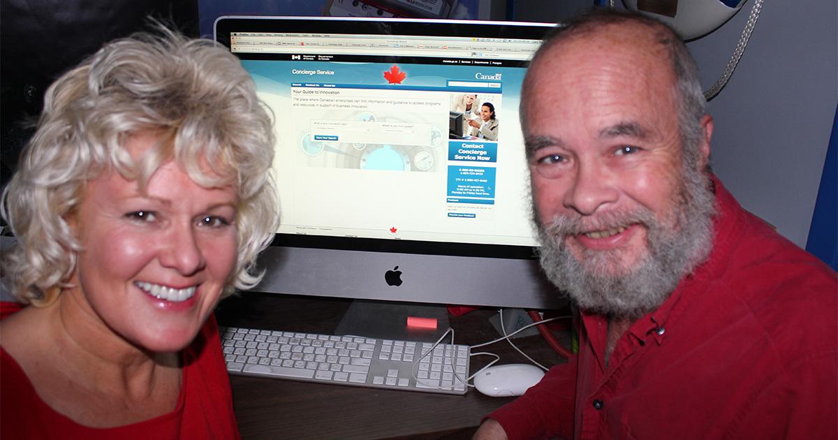 MP-Gallant-with-Glen-MacGillivray-showcasing-the-Concierge-Website