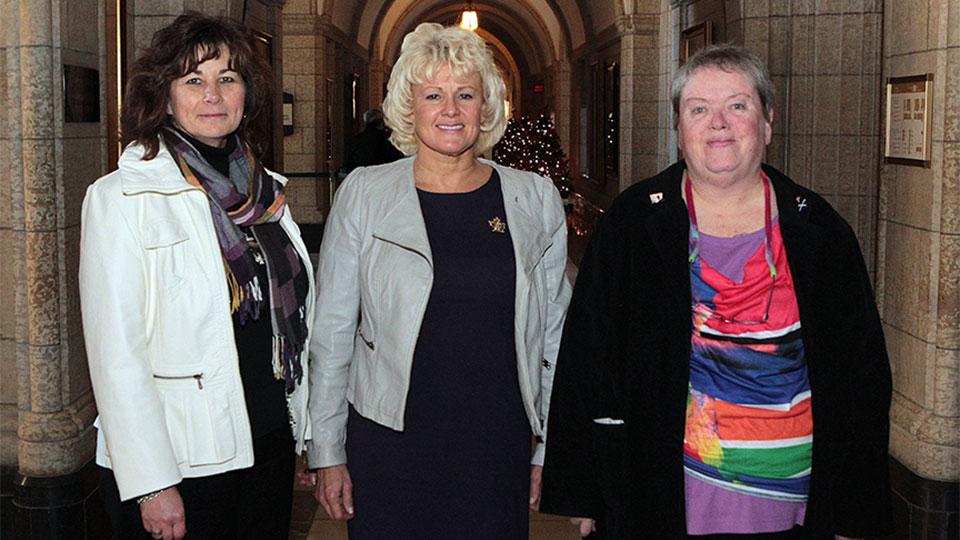 MP Gallant with Lisa Oegema and Joanne Brooks