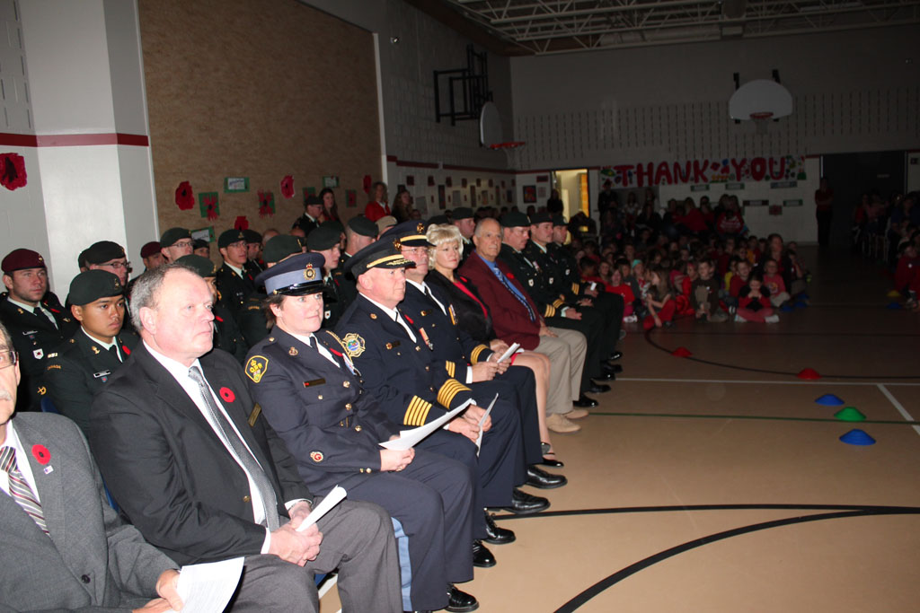 Remembrance Day @ St. Francis of Assissi School in Petawawa 2