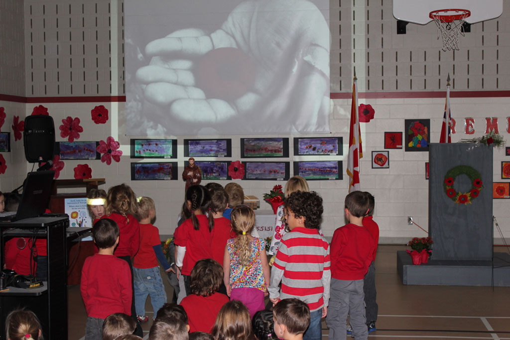 Remembrance Day at St. Francis of Assissi School in Petawawa