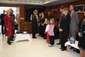 MP Cheryl Gallant with HRH Prince Charles visiting families of the fallan at CFB Petawawa