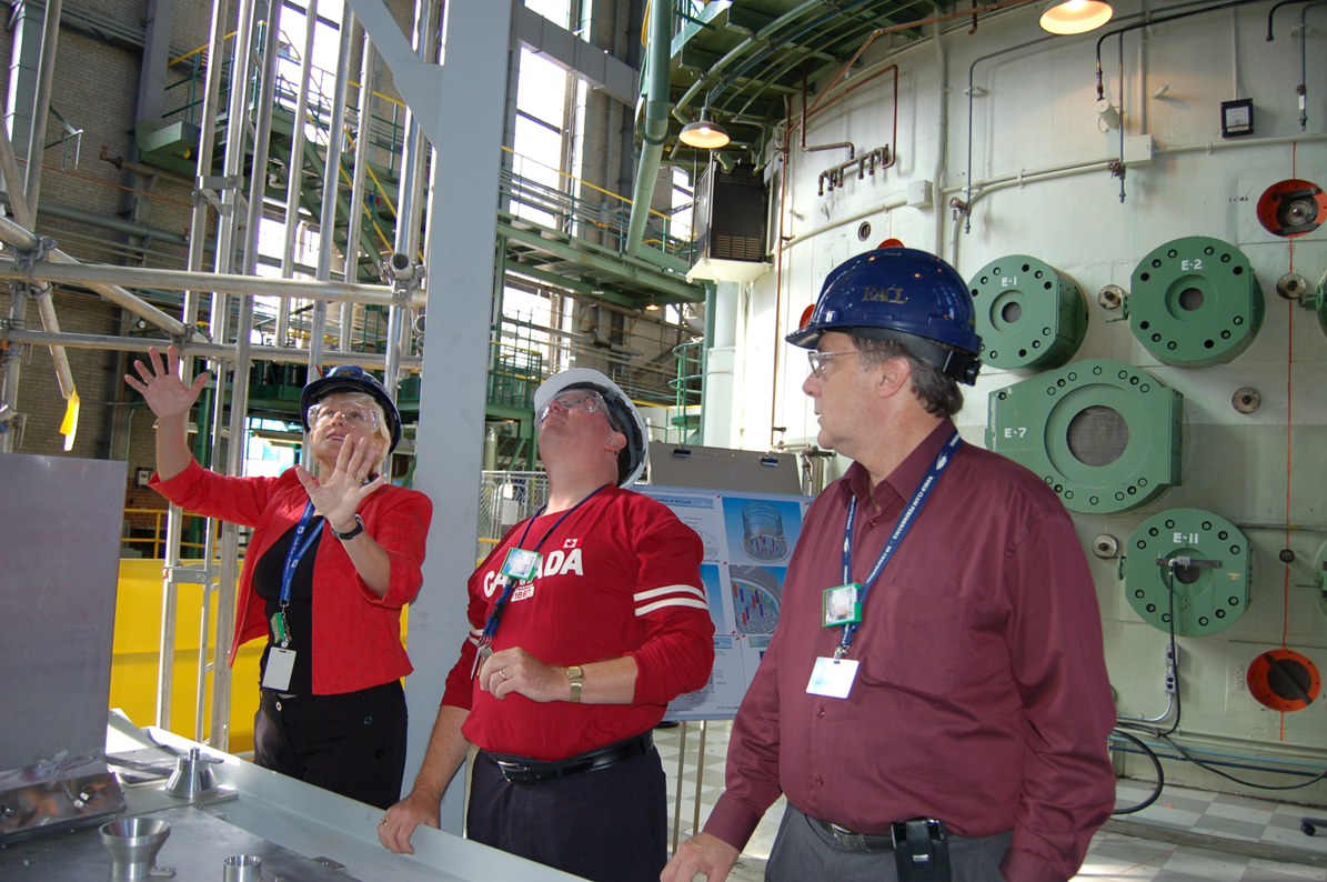 Cheryl visits the NRU reactor