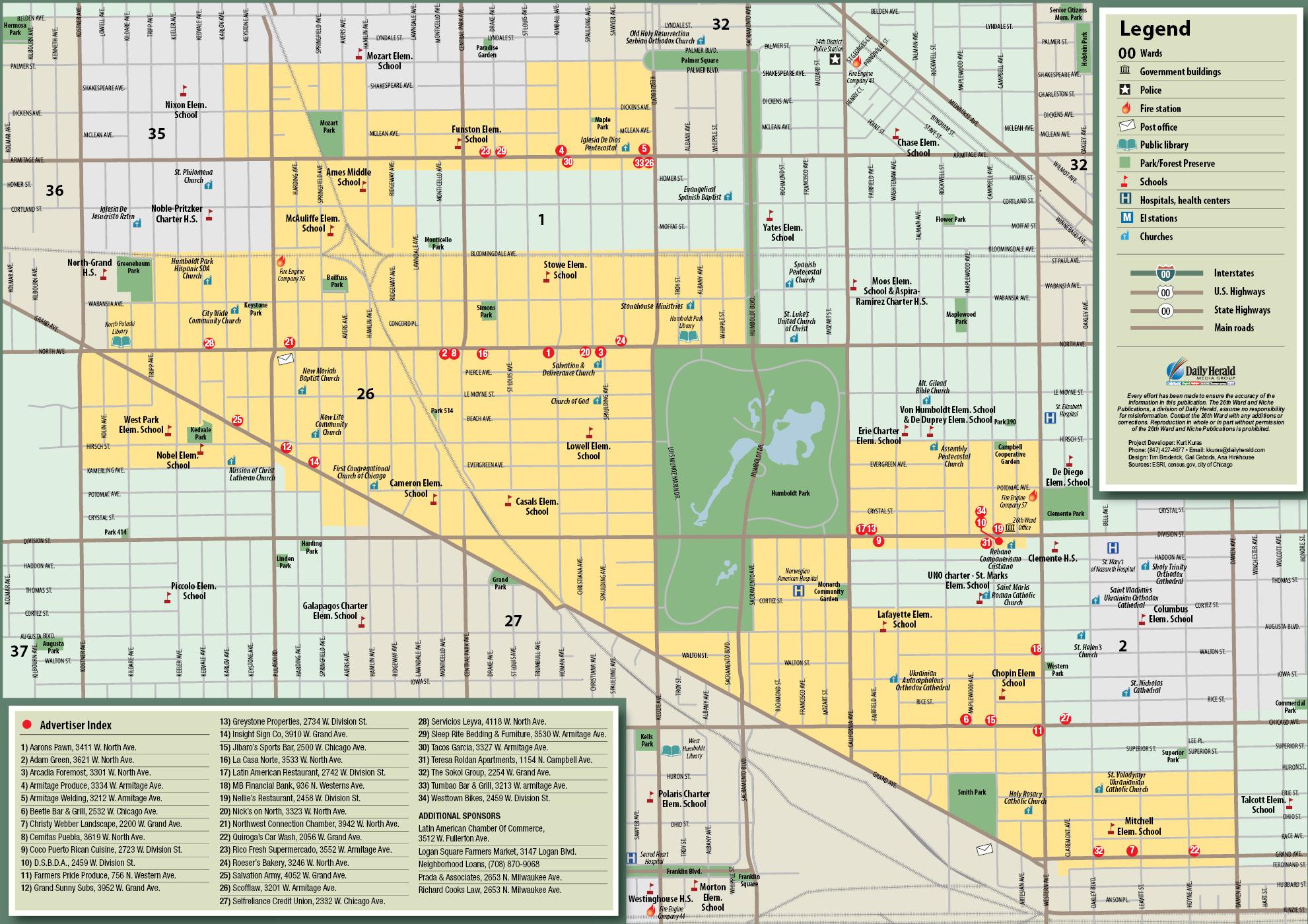 Ward Map For Services  Citizens For Maldonado
