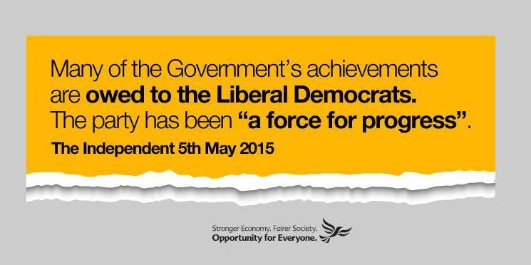 Newspapers backed the Liberal Democrats