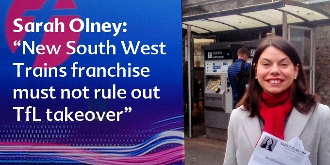 New South West Trains franchise must not rule out TfL takeover