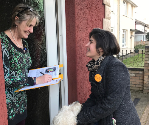 Nicky out on the campaign trail