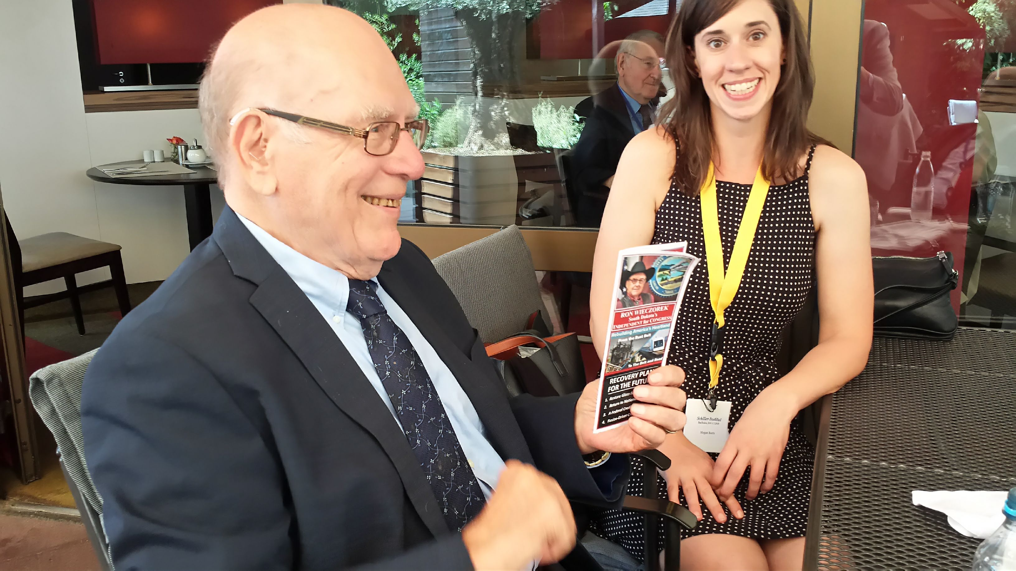 Wieczorek Campaign Literature Put Smile on LaRouche