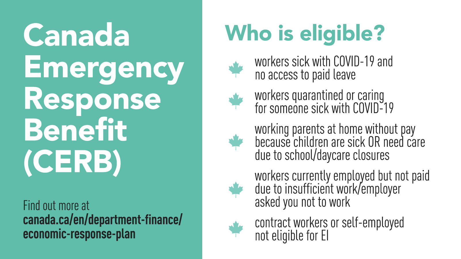 Updated Guidelines for the Canada Emergency Response Benefit Application