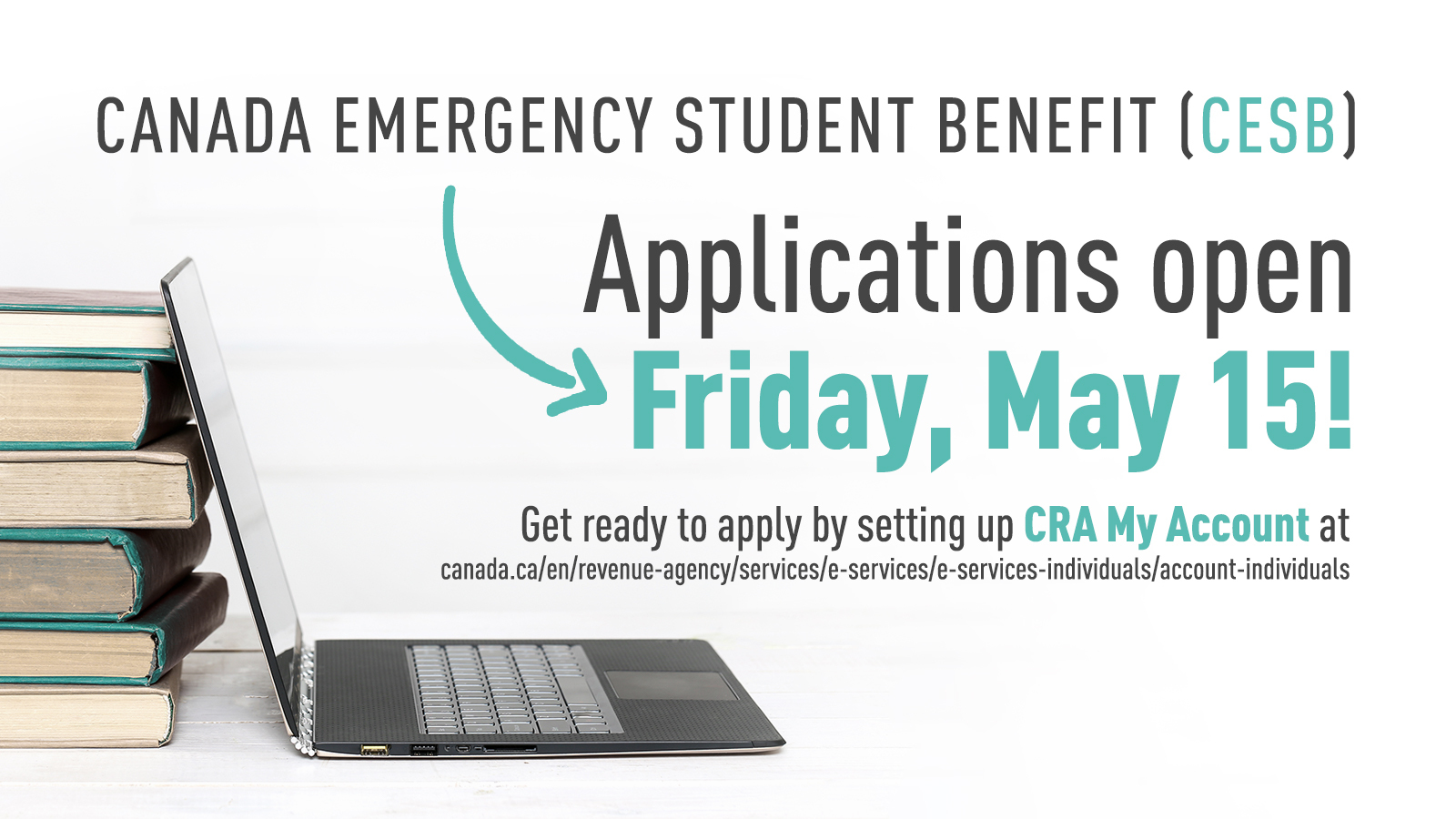 Apply tomorrow for the Canada Emergency Student Benefit