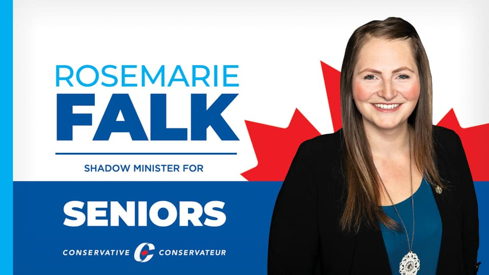 MP Rosemarie Falk appointed Shadow Minister for Seniors in the Conservative Party of Canada's Shadow Cabinet