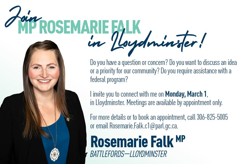 Join MP Rosemarie Falk in Lloydminster
