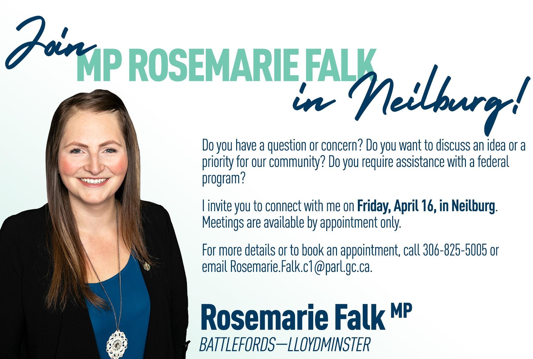 Join MP Rosemarie Falk in Neilburg