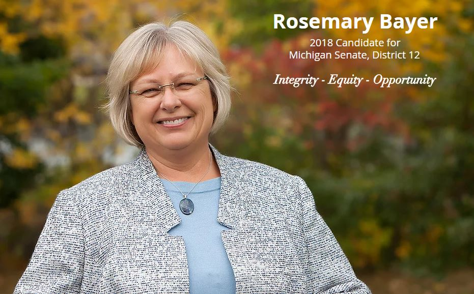Rosemary Bayer candidate for Michigan Senate - 2018