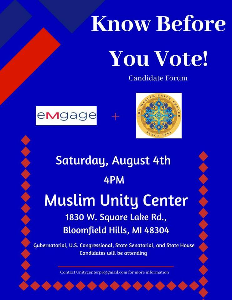 Know Before You Vote! Candidate Forum