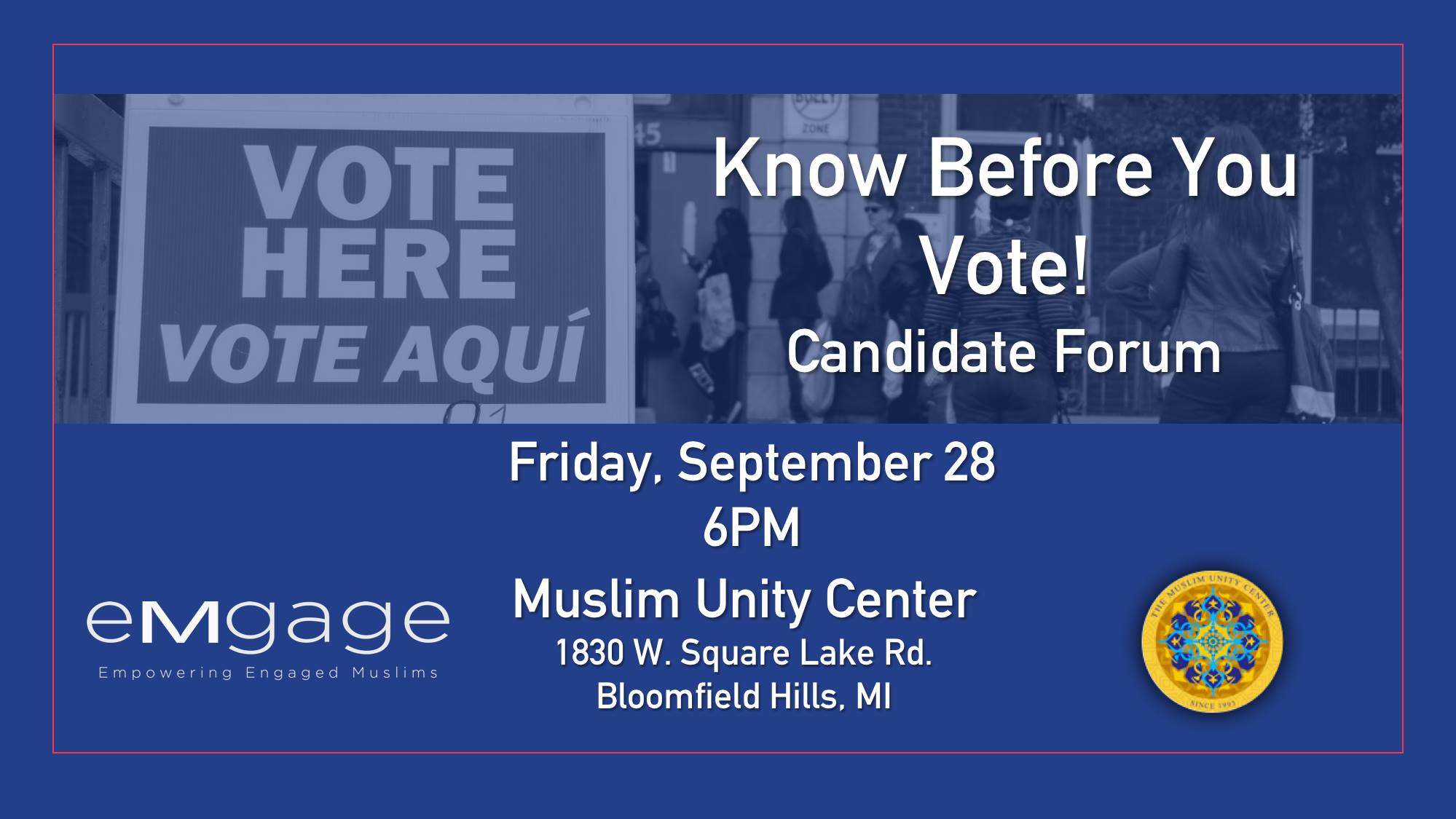 Candidate Forum at the MUC