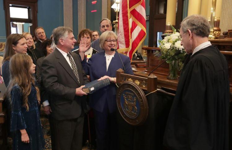 Senator Rosemary Bayer and family