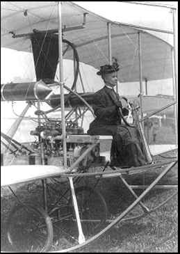 E. L. Todd at the controls Probably Sept., 1909 Library of Congress Collection