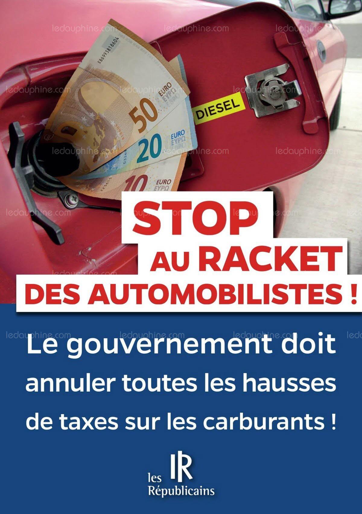 Tract LR contre la hausse des taxes et des carburants