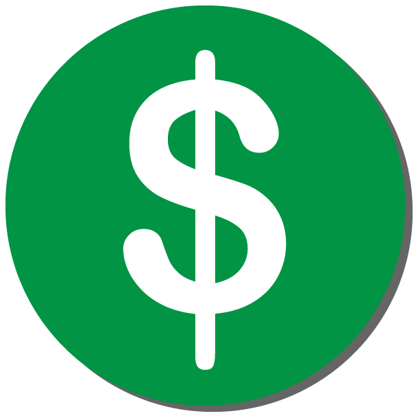 Green circular button with a dollar sign on it to donate to Roy Freiman for Assembly