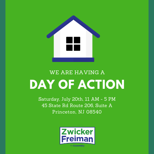 July day of action to re-elect Assemblyman Roy Freiman of New Jersey's 16th Legislative District