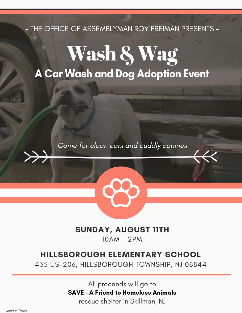 Wash & Wag, a car wash and dog adoption event hosted by Assemblyman Roy Freiman to benefit SAVE, A Friend to Homeless Animals