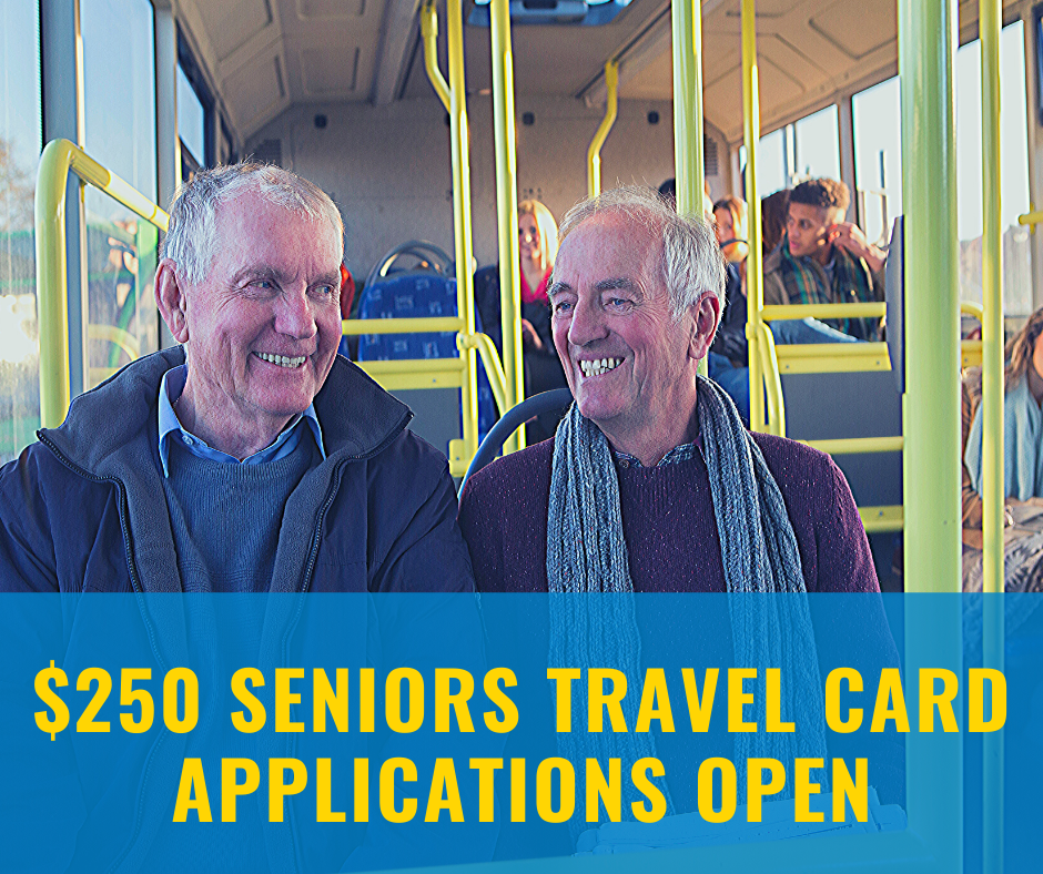 $250 Regional Seniors Travel Card Image