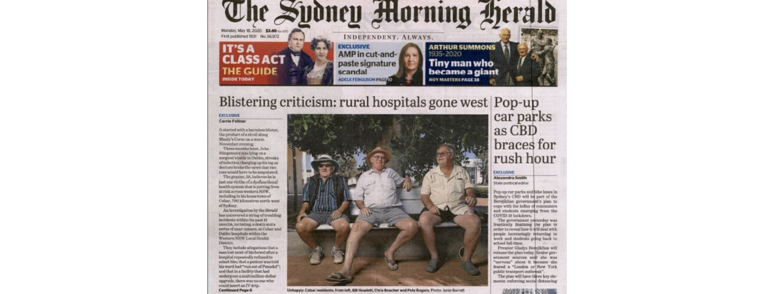 Health concerns in the West make front-page news  Image