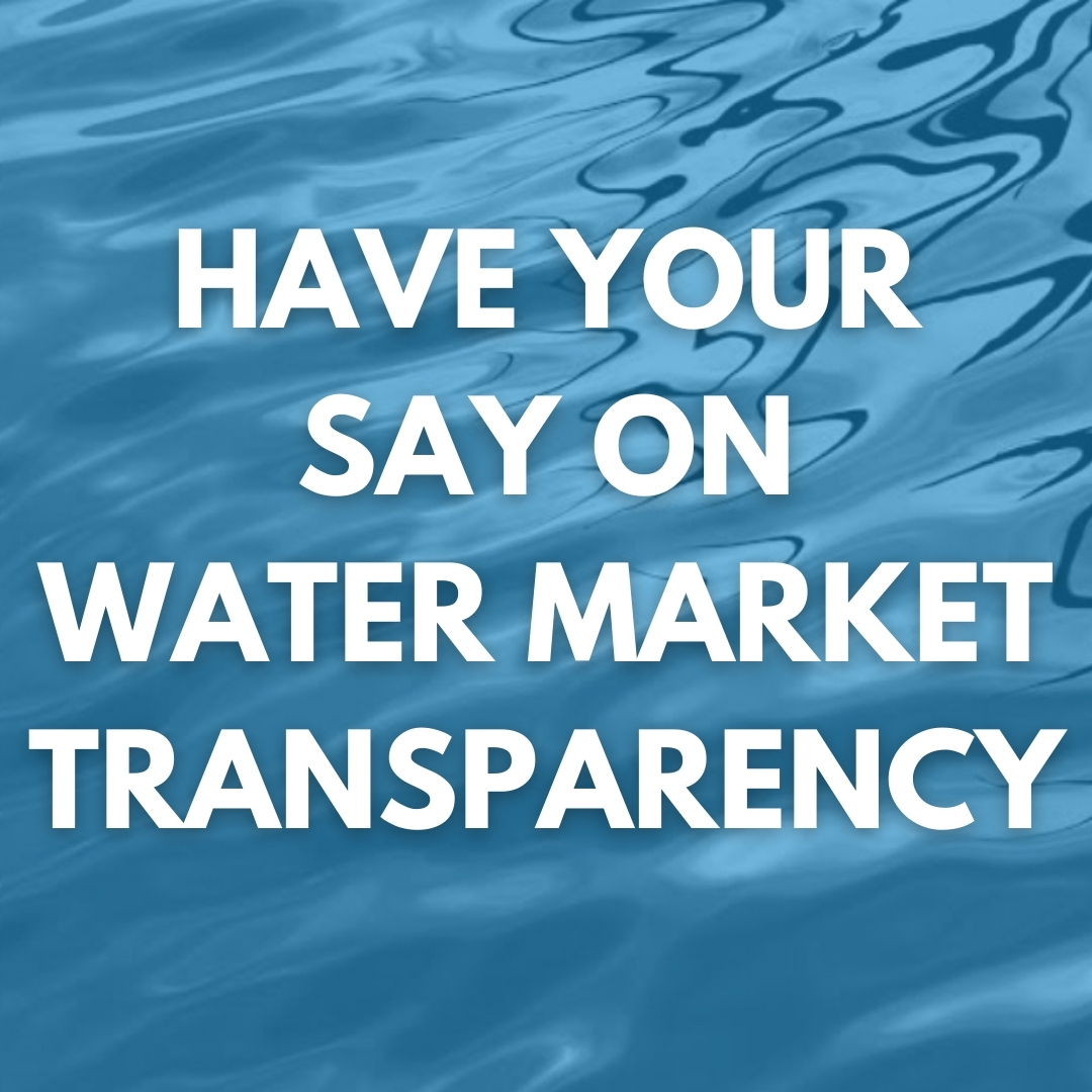 Have your say on water market transparency Image