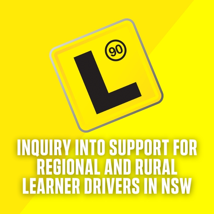 Inquiry into support for Regional and Rural Learner Drivers in NSW Image